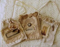 Beautiful use of small pieces of lace <3