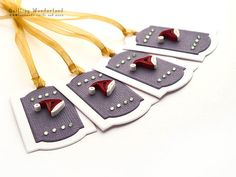 Christmas gift tag  Set of 4   Paper by QuillingWonderland on Etsy, $8.00