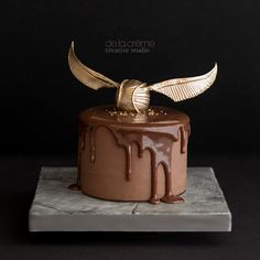 Golden Snitch Spin-off Cake.