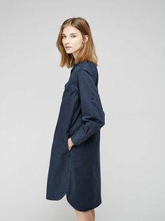 MHL by Margaret Howell Cotton Canvas  Shirtdress via lagarconne.com