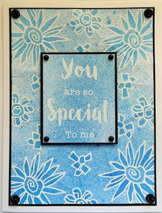 Inky Finger Zone: You are so Special Card Making Inspiration, Clear Stamps, Special Occasion, Birthdays, Creative, Frame, Fun, Cards, Fingers