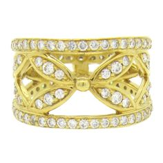 Temple St. Clair Foglia Diamond Gold Ring   From a unique collection of vintage more rings at https://www.1stdibs.com/jewelry/rings/more-rings/