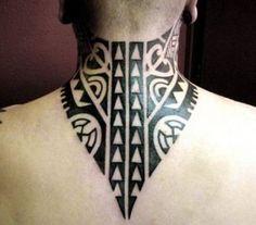 New tattoo neck tribal tat Ideas Simple Tribal Tattoos, Tribal Neck Tattoos, Tribal Tattoos For Women, Sleeve Tattoos For Women, Trendy Tattoos, Forearm Tattoos, New Tattoos, Tatoos, Back Of Neck Tattoo