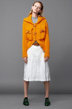 Take inspiration from the Acne Studios Resort 2015 Collection and work orange back with neutrals. www.stylestaples.com,au