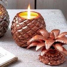 Copper Pineapple Candle
