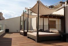 The Roof Terrace at the Puro Hotel in Mallorca, Spain