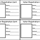 Election Voter Registration Cards Free Printables  Election Day