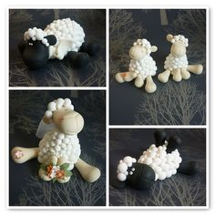 Sheep wedding cake toppers by The Designer Cake Company, via Flickr