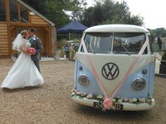 Sopley Mill wedding with VW split screen transport