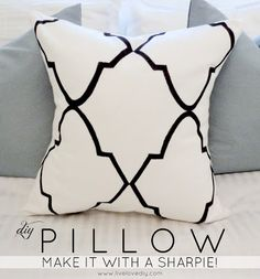 DIY pillow made with a Sharpie!