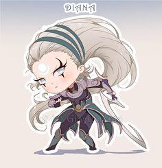 Chibi Diana - League of Legends by GisAlmeida.deviantart.com on @DeviantArt
