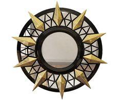 Wall-mounted framed mirror TRINITY   Mirror - Malabar Emotional Design