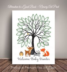 A personal favorite from my Etsy shop https://www.etsy.com/listing/484338257/woodland-baby-shower-guest-record