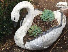 Concrete Vintage Swan Planter Original MID Century Garden Decoration in VIC | eBay