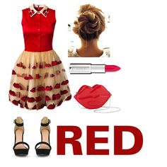 """RED KISSED"" by adindabalqis on Polyvore"