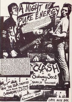 Bad ass old punk flyers.