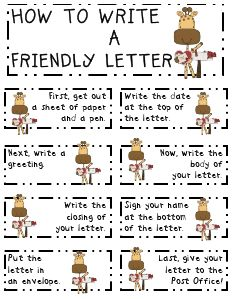 This website provides instructions on how to write a Friendly Letter. I think Friendly Letters are very helpful in the classroom and can be easily related to social studies. Students can have the option to write a Friendly Letter to a person in history. They can research that person and write a letter as if that person was still alive.