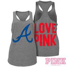 Atlanta Braves Victoria's Secret PINK® Heathered Racerback Tank - MLB.com Shop  Want<3