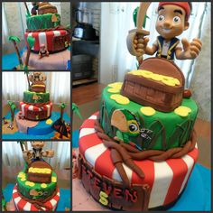 jake and the neverland pirate...cake I made for a customer