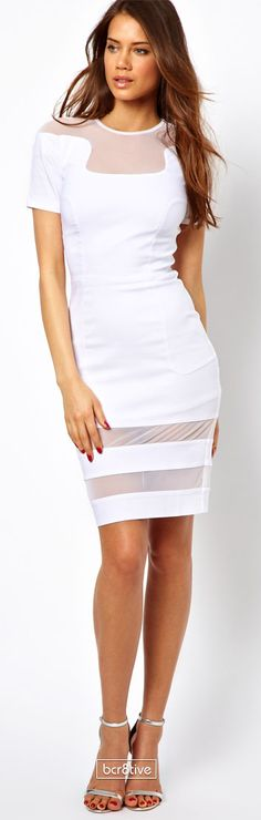 Asos Hybrid Dress with Mesh Inserts