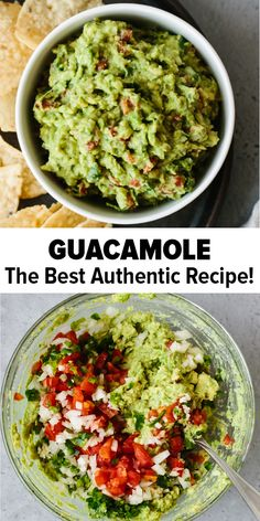 This guacamole recipe is simple to make and uses fresh, high quality ingredients. It's easy, authentic and delicious! A traditional Mexican guacamole and the best ever dip or appetizer. Healthy Recipes Best Ever Guacamole (Fresh, Easy & Authentic) Authentic Guacamole Recipe, Best Guacamole Recipe, Fresh Guacamole, Mexican Guacamole Recipe, Chunky Guacamole Recipe, How To Make Guacamole, Weight Watchers Guacamole Recipe, Gastronomia, Mexican Food Recipes