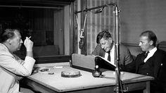 L-R: Chester Kallman, W. H. Auden and Hans Werner Henze