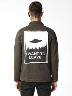 Alienation Canvas Jacket - Disturbia Clothing