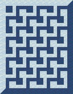 L-Block Quilt 17 by AllThatPatchwork, via Flickr