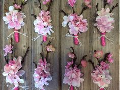 Cherry blossom corsages