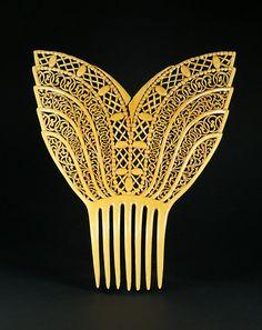 Art Deco celluloid comb