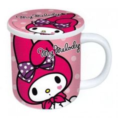 My Melody Ceramic Mug Cup with Lid Polka Dot Sanrio Japan Original Cute Car Seat Covers, Hello Kitty Kitchen, My Melody Sanrio, Anime Stars, Baby Friends, Sanrio Characters, All Things Cute, Little Twin Stars, Cute Cars