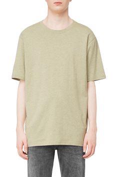 Weekday Frank T-shirt in Green Yellowish