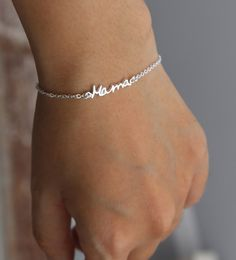SALE 22% OFF Handwriting Signature Bracelet Name by SilverElegant