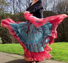Tribal Belly Dance Skirts, various hem widths,  Gypsy skirt This one's lovely and light, whilst having plenty of volume at 24 yards.