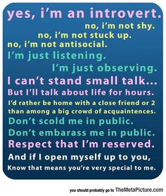 Informed Introverts Know  #proudtobeme