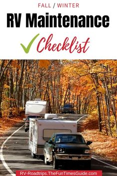 Here is your RV maintenance checklist for Fall – see the 6 most important things you should check each year before winter! Doing these things will keep your RV in good shape.