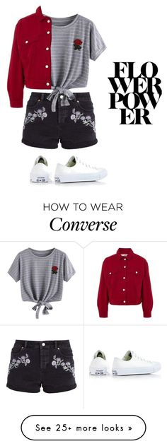"""FLOWER"" by nejira676 on Polyvore featuring Miss Selfridge, WithChic, Topshop and Converse"
