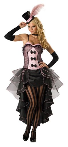 French Can Can Dancer Moulin Rouge Burlesque Adult Women Halloween Costume