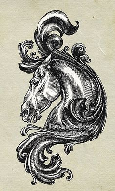 Grotesque by Jeanne-Saar on DeviantArt Tattoo Illustration, Graphic Illustration, Tatuaje Art Nouveau, Emo Kunst, Emo Art, Animal Symbolism, Tattoo Portfolio, Tattoo Stencils, Horse Art
