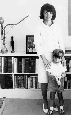 Incredible photo of Jackie and John John