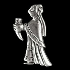 Pendant in the shape of a woman modelled on a swedish find 9th small woman figurine modelled on various finds thought to represent a valkyrie or noble woman bearing the welcome cup length 25mm 1 aloadofball Images