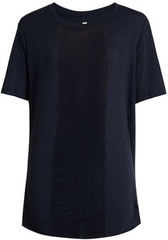 RAQUEL ALLEGRA Shredded-front cotton-blend T-shirt Shirt Dress, T Shirt, Stylish, Tees, Cotton, Vintage, Dresses, Women, Fashion