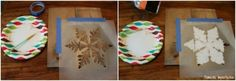 How to stencil DIY Stenciled pallet art with the Snowflake Stencil and acrylic craft paint. http://www.cuttingedgestencils.com/snowflake-stencils.html