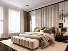 Awesome Luxury Modern Master Bedroom Design will Inspire You - home decor update Modern Luxury Bedroom, Master Bedroom Interior, Luxury Bedroom Design, Modern Master Bedroom, Bedroom Furniture Design, Home Room Design, Master Bedroom Design, Luxurious Bedrooms, Home Decor Bedroom