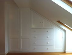 Made to measure loft eaves storage. Hand made in London. #BespokeFurniture…