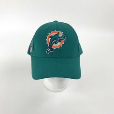 Details about Reebok NFL Miami Dolphins Team Logo Baseball Cap Hat Wool  Blend Strap Back 7547f540b