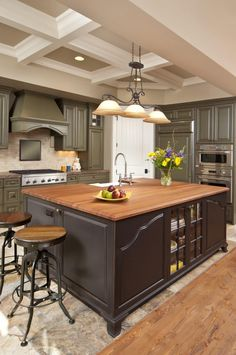 7 Kitchens with wood counters here! Inspiring Photos and Ideas for your Kitchen. Click Here to See our Photo Gallery...it's FREE!