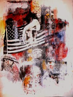 "Saatchi Online Artist Lori Love Penland; Assemblage / Collage, ""Poverty is Silence"" #art"