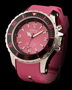 Kyboe Back to the Fuchsia Big Watches, Cool Watches, Funky Fashion, Mens Fashion, Pink Watch, Silent Auction, Bubblegum Pink, Chronograph, Special Events