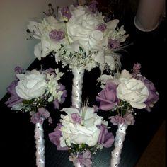 My wedding bouquets! Homemade.